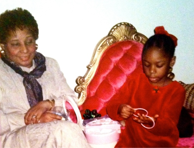 Christmas in Flatbush, circa 1996. Here I'm teaching grandma a thing or two about how to accessorize.